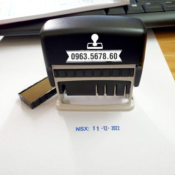con dấu ngày sản xuất, hạn sử dụng, đóng trên mọi chất liệu