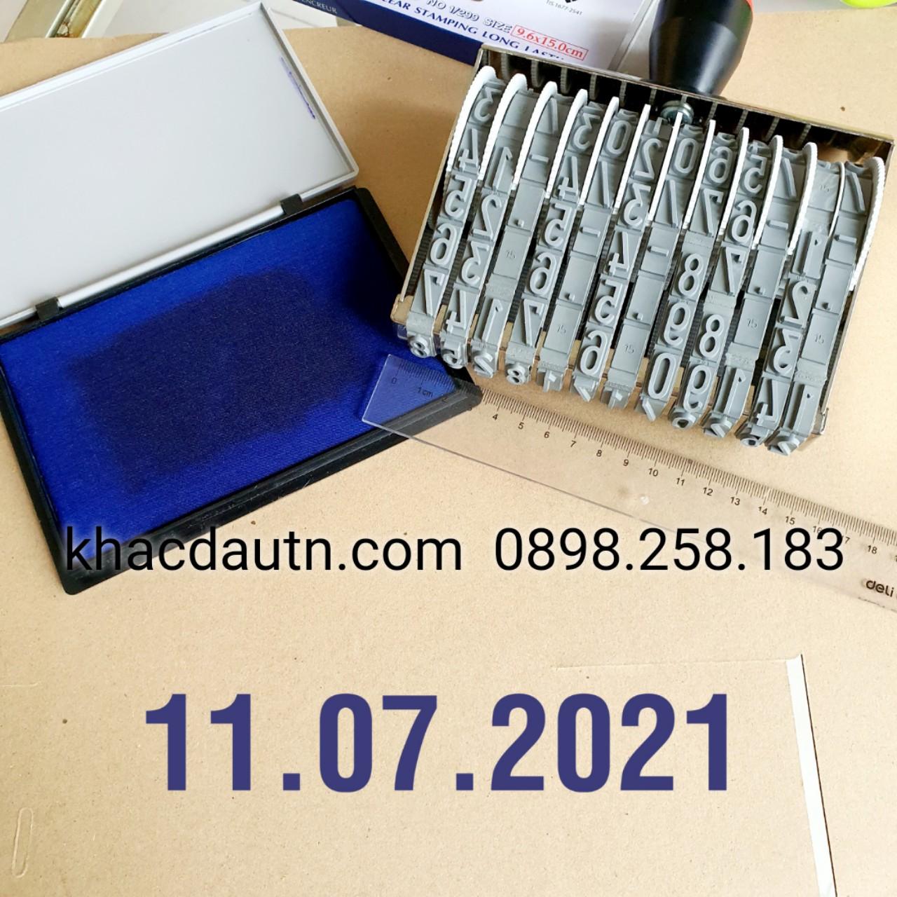 Con dấu ngày tháng năm 15mm x 200mm dạng dấu ngày cỡ lớn đóng các loại thùng hàng.Chuyên Cung Cấp Dấu Ngày Tháng Năm Tại Bắc Ninh