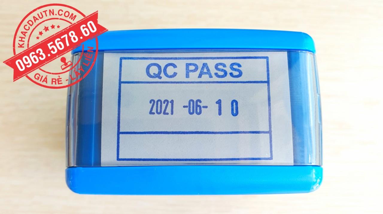 khắc con dấu qc pass tại bình dương, nhận làm con dấu giá rẻ giao hàng tận nơi