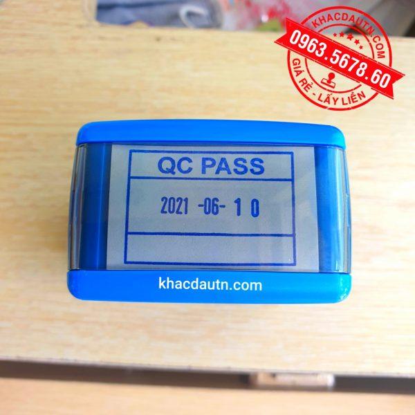 khắc con dấu QC - PASS, Kèm năm tháng ngày tùy chỉnh