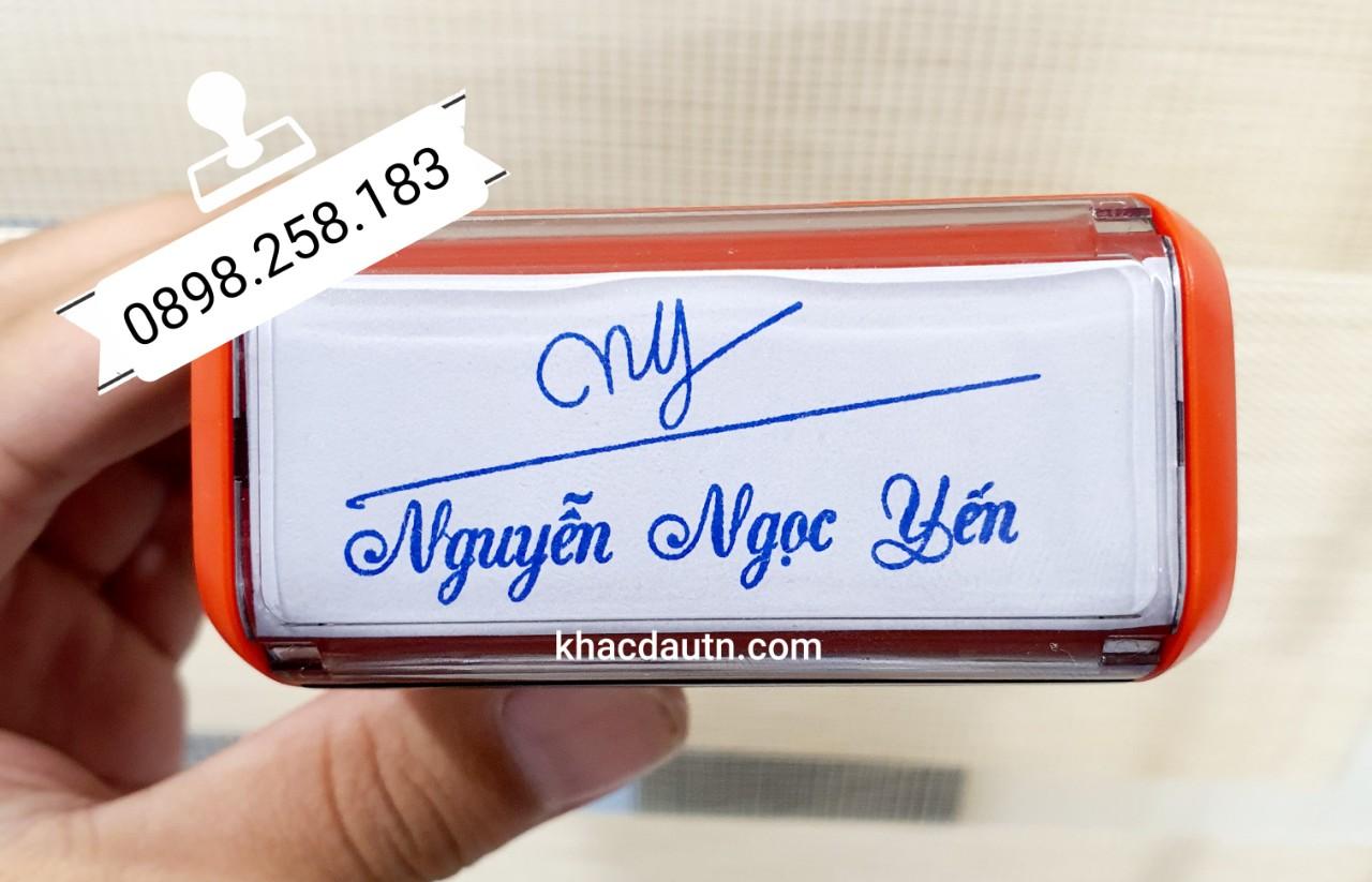 Làm con dấu chữ ký kèm tên thiết kế theo yêu cầu, dịch vụ khắc dấu Chữ Ký Tại Bắc Ninh