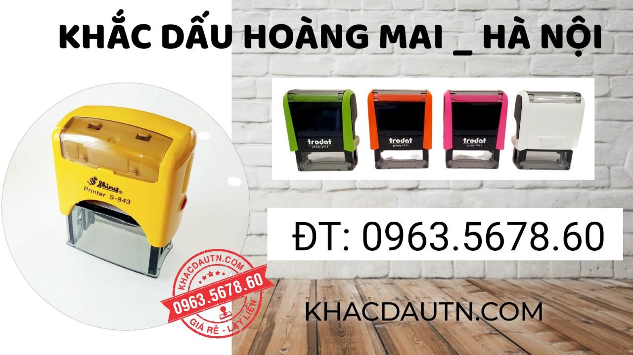 khắc con dấu tại quận Hoàng Mai Hà Nội, dịch vụ làm con dấu chuyên nghiệp làm con dấu lấy nhanh giao hàng tận nơi