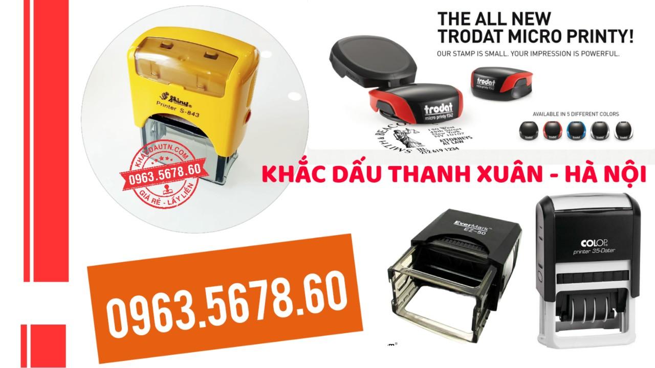 khắc con dấu tại Thanh Xuân Hà Nội, dịch vụ làm con dấu chuyên nghiệp giá rẻ, làm con dấu lấy nhanh tại Hà Nội