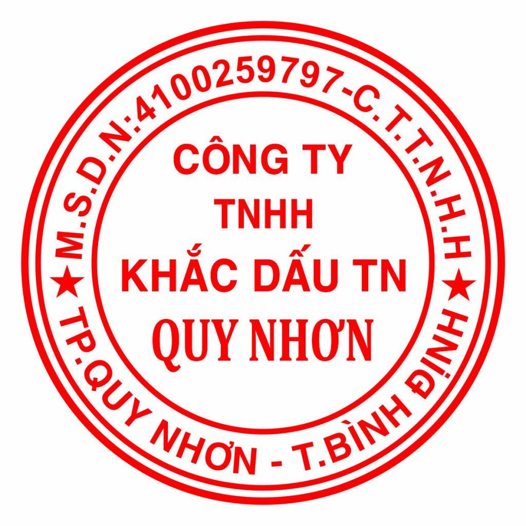 Nhận Khắc con dấu tròn tại Quy Nhơn, giao công con dấu và giao hàng tận nơi.