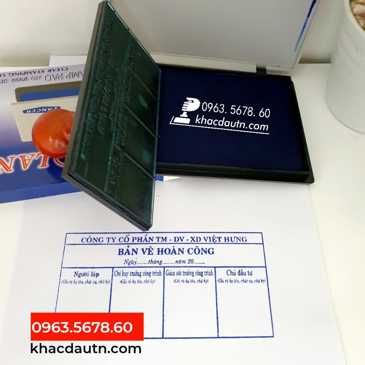 Dấu Bản Vẽ Hoàn Công Giá Rẻ - 0963.5678.60 Chuyên Cung Cấp Và Sản Xuất Giao Công Con Dấu - Luôn Có Nhiều Ưu Đãi Giảm - Xuất HD VAT 10%