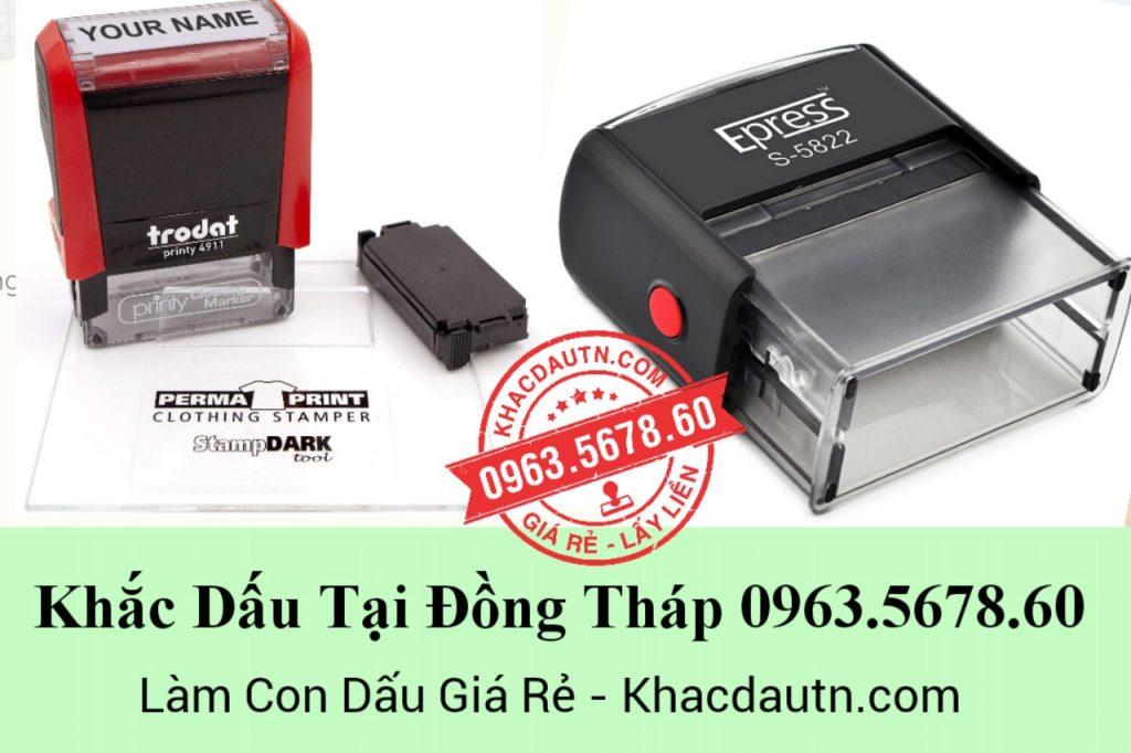 Khắc dấu tại Đồng Tháp - 0963.5678.60 chuyên cung cấp và gia công các loại con dấu giá rẻ - Xuất Hóa Đơn VAT 10%